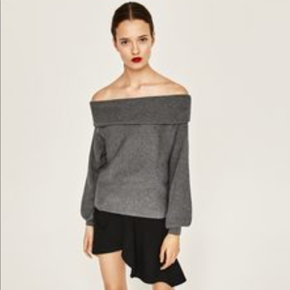 775a2420e35 Zara Off The Shoulder Sweater. M 5a6cc1655521be12da9fb44c